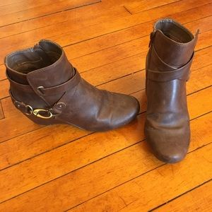 Naturalizer Brown Ankle Booties